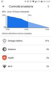 Screenshot 3 batteria ticwatch