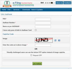 How to Link Your PAN Card to AADHAAR Card