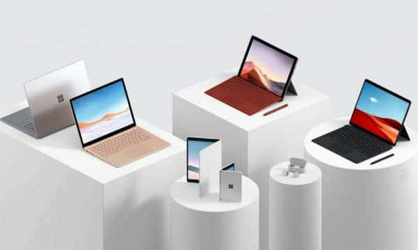 Microsoft Surface Pro X, Surface Pro 7 and Surface Laptop 3
