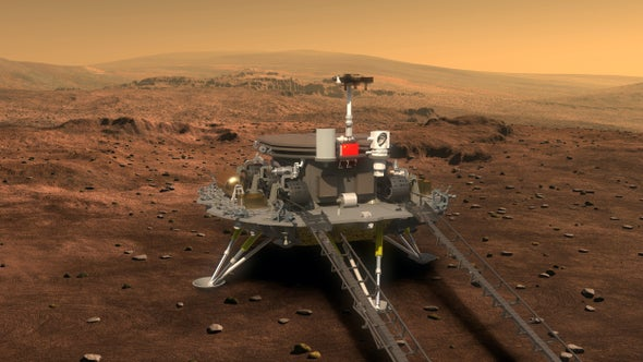 China Landed first rover on mars