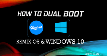 Dual Boot Remix OS And Windows 10