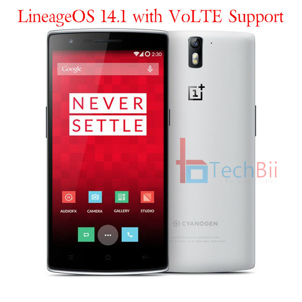 OnePlus One VoLTE Update : Official LineageOS 14 1 Update Guide