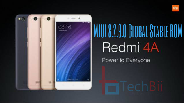 redmi 4a miui 8.2.9.0 global stable rom