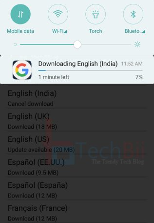remove downloading english india notification