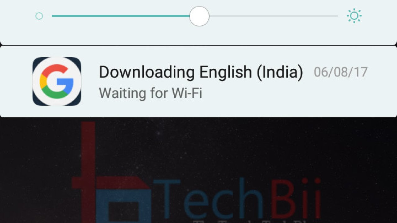 Downloading English (India) Waiting for WiFi: Remove from