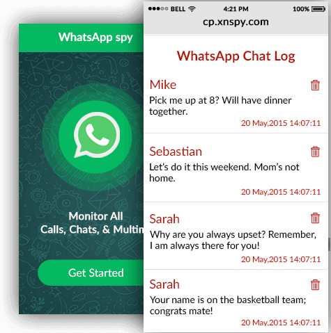 Only three steps to spy Whatsapp Messages:
