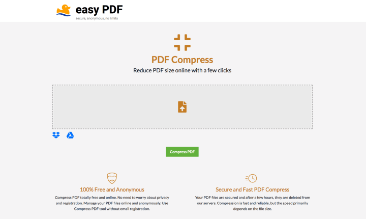 Compress PDF with EasyPDF