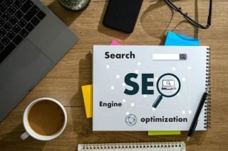 Computer laptop searching engine optimizing seo technology concept Premium Photo