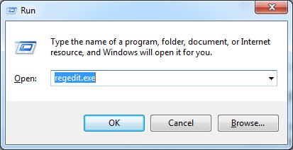 Run regedit.exe Chrome Error Code 3