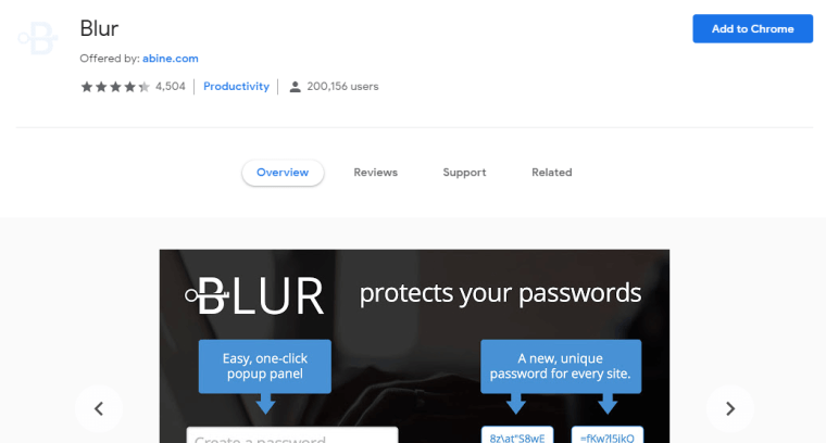 Blur - Best Google Chrome Extensions For Privacy