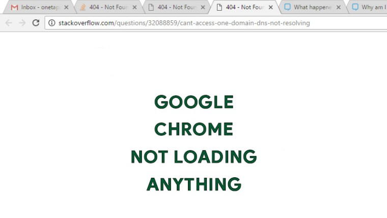 Google Chrome Not Laoding Anything