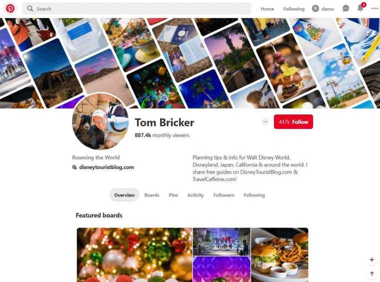 Person profile - Pinterest
