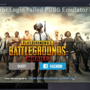 Network Error Login Failed PUBG Emulator Fix