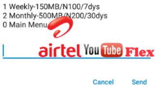 Airtel Youtube flex Data bundle Plan Free Browsing codes
