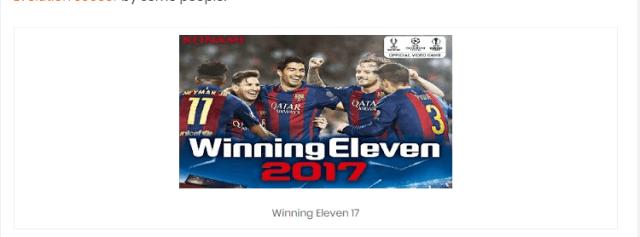 Download Winning Eleven APK 2017 - FREE Updated