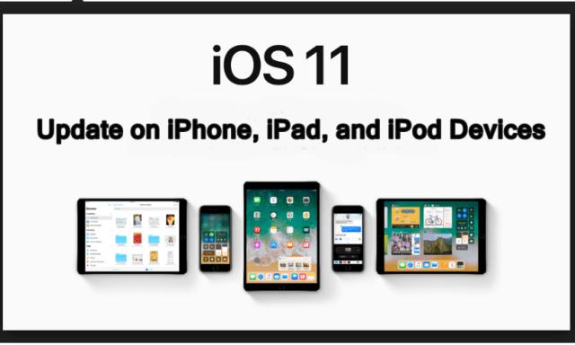 Update iOS 11 on ipad iphone ipods tutorial