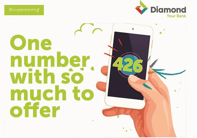 New Diamond Bank USSD transfer Code