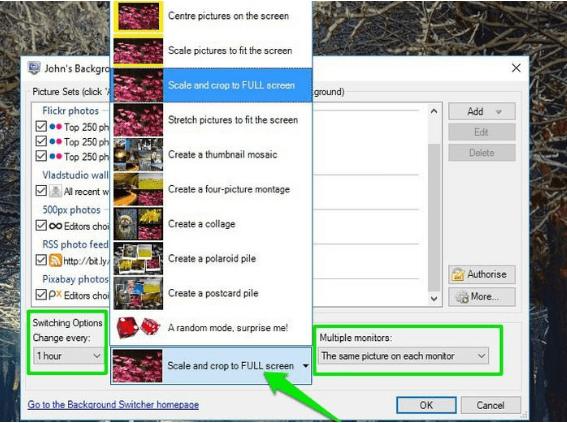 PC picture mode option