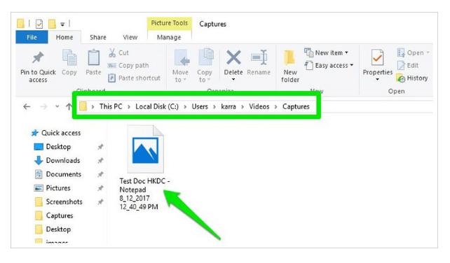 Screenshot default Videos folder