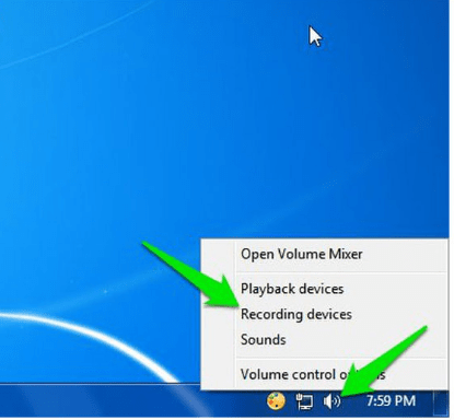 Windows Recording devices