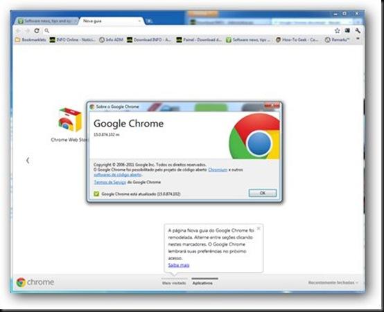 Nova versão do Chrome traz separação entre páginas, chrome15