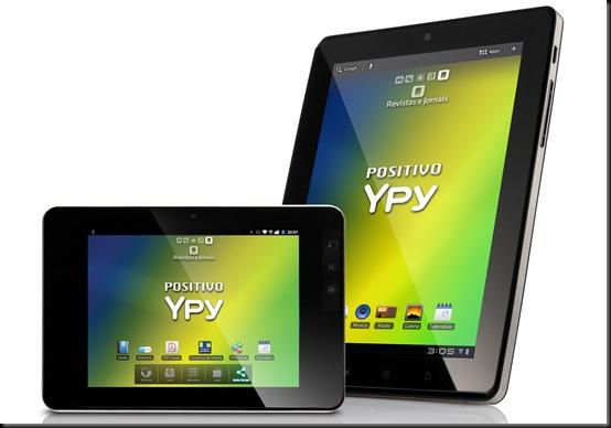 positivo ypy 7, positivo ypy 10, Tablet da Positivo chega às lojas por R$ 999