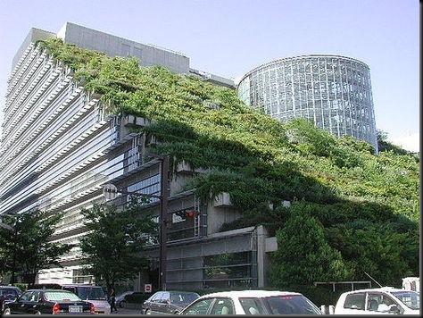 Telhado Verde do Edifício ACROS Fukuoka no Japão, Tecnologia Verde
