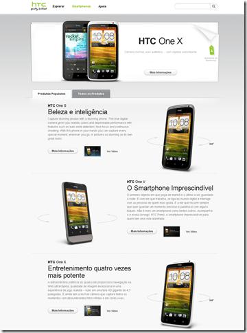 Site da HTC Brasil exibe o HTC One S, One X e One V, HTC, Lançamentos, Smartphones, Android