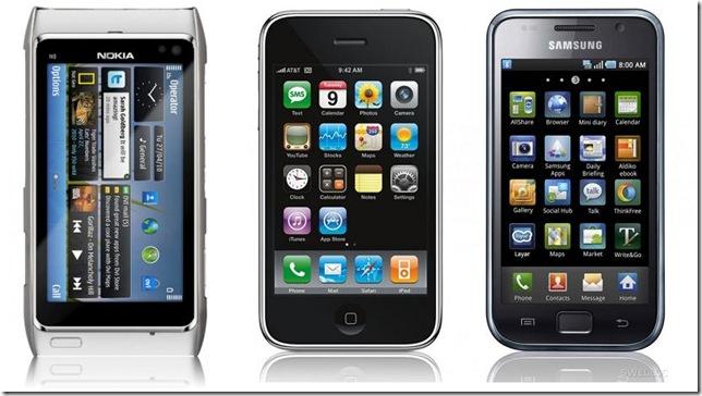 Apple supera Samsung em smartphones vendidos, mas a Nokia volta a ser lider mundial, Mercado Nokia, Apple, Samsung