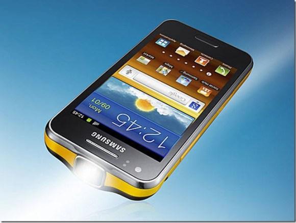 Smartphone Galaxy Beam, da Samsung, tem projetor embutido, Samsung, Smartphones, Samsung Galaxy Beam 2012, Android