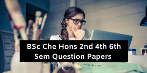 Mdu BSc Che Hons 2nd 4th 6th Sem Question Papers