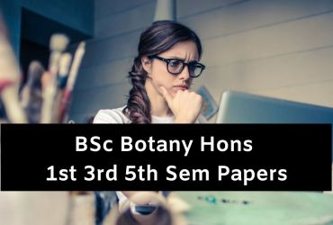 Bsc Botany Hons Question Papers