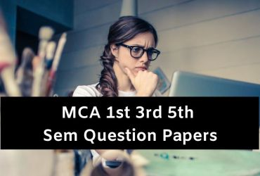 MCA Question Papers