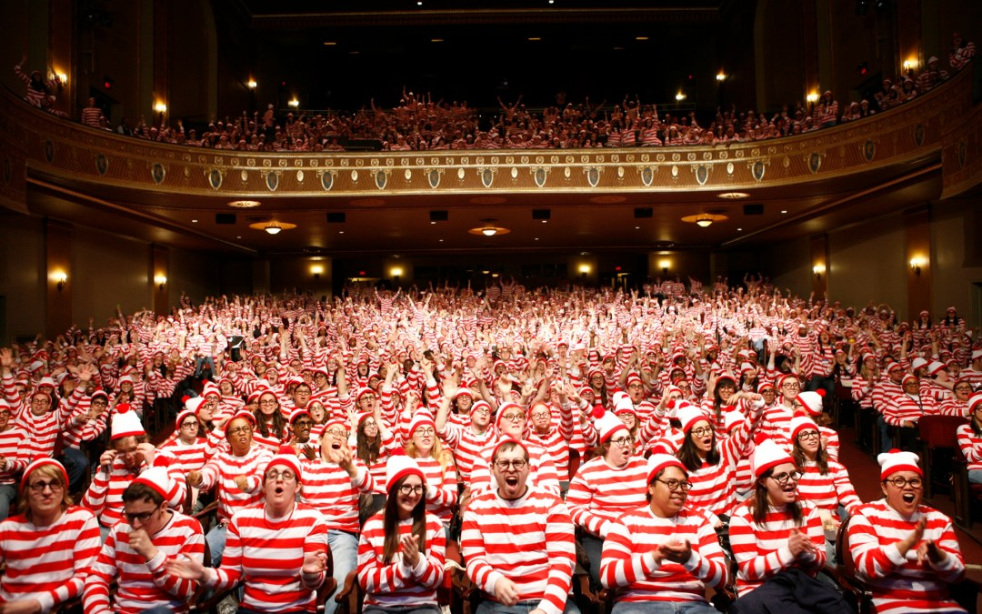 Colleges Attempt World Record for the Most People Dressed as Where's Waldo