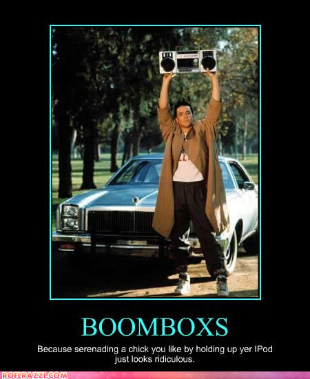 Why boom boxes are still cooler than iPods