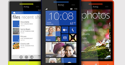 HTC Windows 8X phone