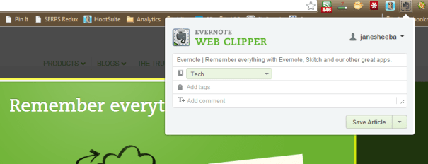 Evernote Clipper