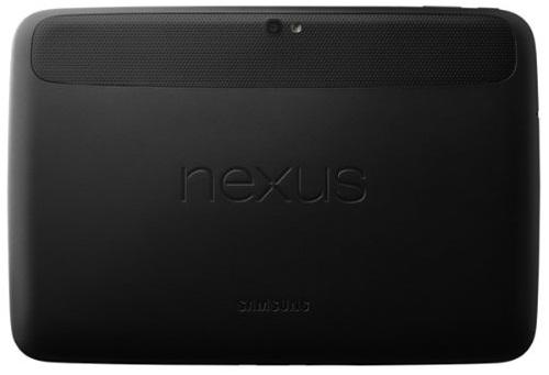 Google Nexus 10 back