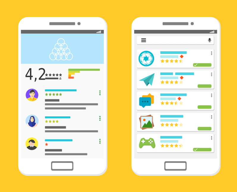 android app templates mockup