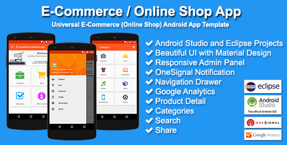 e-commerce shop app