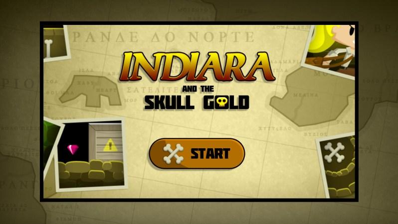 indiara skull gold game