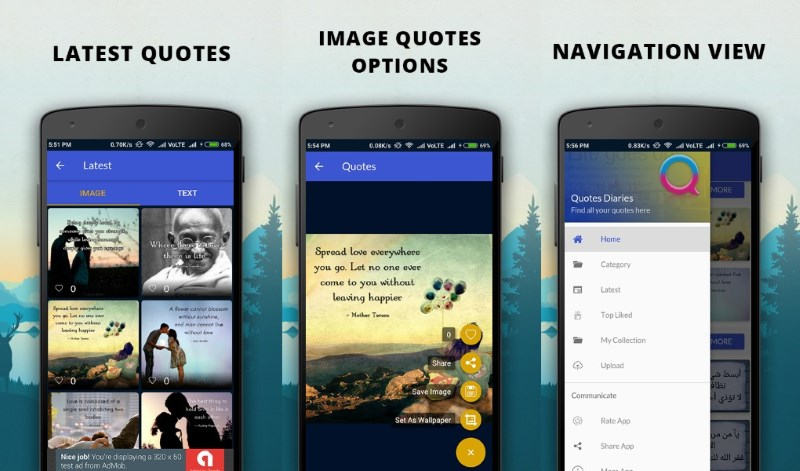 12 Quotes App Templates for Android with Source Code (Free and