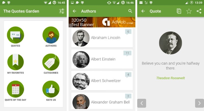 12 Quotes App Templates for Android with Source Code (Free