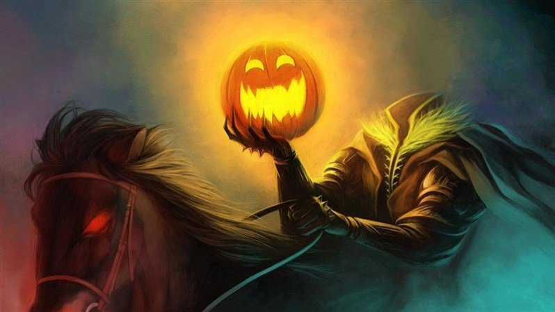 Headless Horseman with Pumpkin