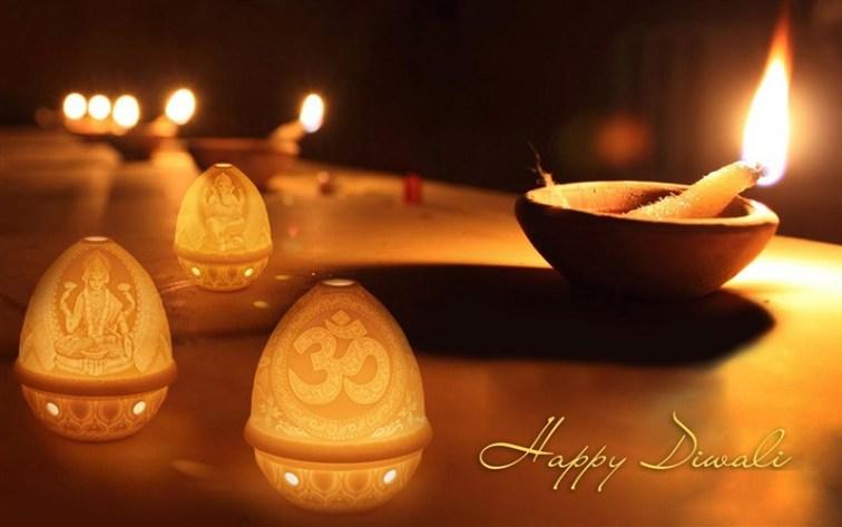 Happy Diwali Diya Lakshmi Ganesh