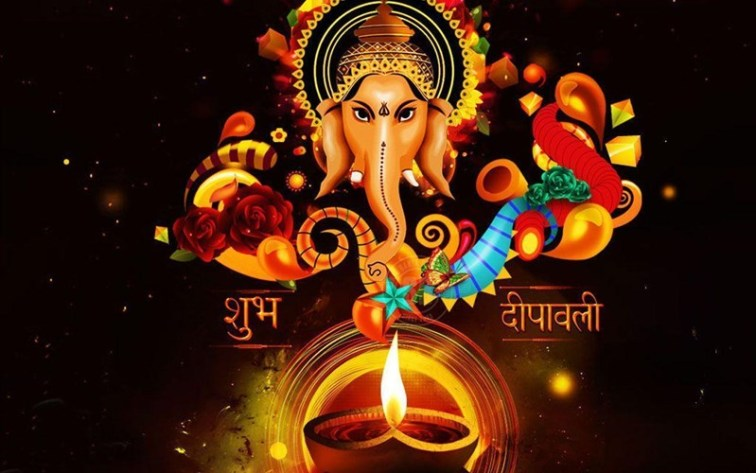 Shubh Deepawali message with Lord Ganesha