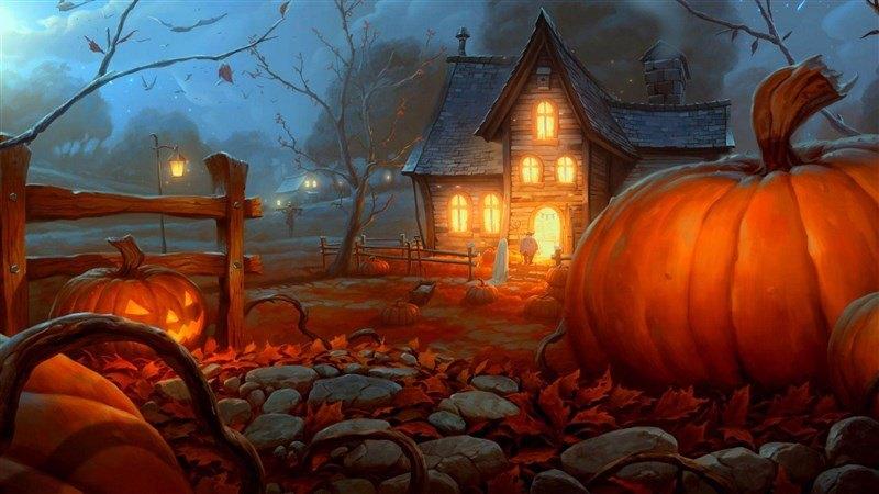 Halloween Pumpkin House