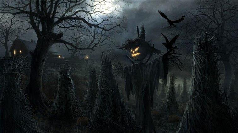 Scare Crow Pumpkin Head