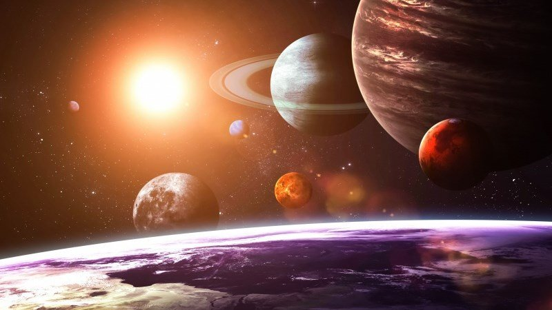 Solar System as Seen from Earth