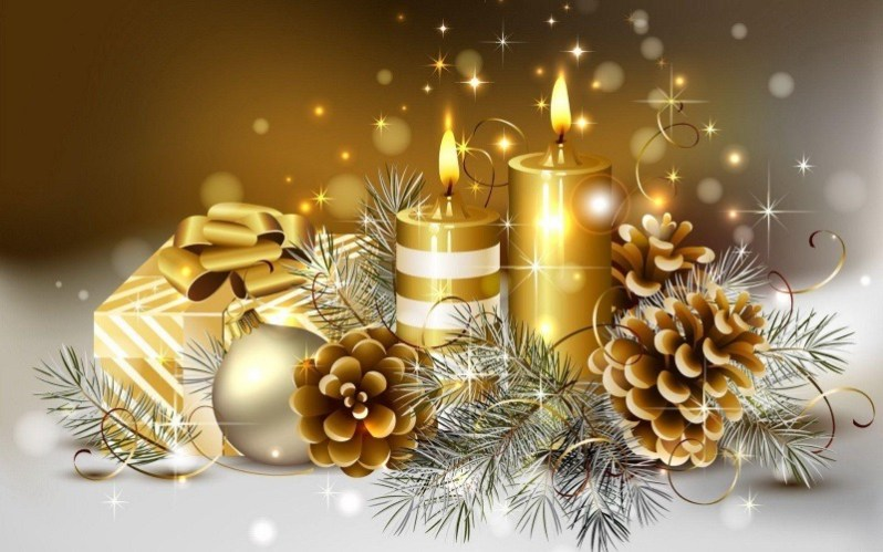 Elegant Christmas Candle Lights